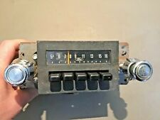 1979 1986 Ford Mustang AM Radio has Knobs Original Used part # D9OF-18806