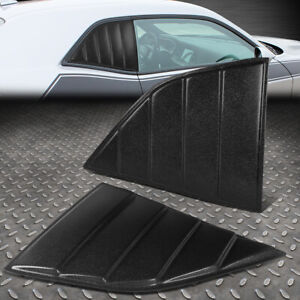 FOR 08-19 DODGE CHALLENGER QUARTER SIDE WINDOW LOUVERS SCOOPS SUN SHADE COVER