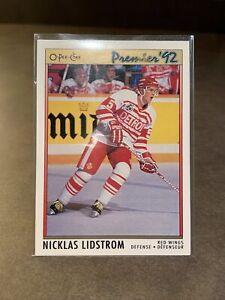 1991-92 OPC O-Pee-Chee Premier Nicklas Niklas Lidstrom Rookie Card RC #117 Mint