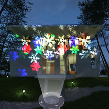 Christmas Xmas LED Projector Fairy Light Snowflake Lighting Outdoor Waterproof