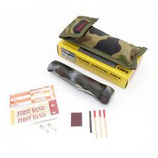SURVIVAL KLAPPMESSER & TASCHE Taschenmesser Outdoor Camping Kompass Angel Messer