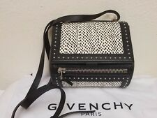 d3e8288af6e Givenchy Pandora Box Mini Snakeskin Shoulder or crossbody Bag Black/White  NEW