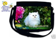 Sac bandoulière moyen modèle chat réf 83 personnalisé avec prénom