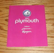 Original 1997 Plymouth Neon Breeze Voyager Sales Brochure 97