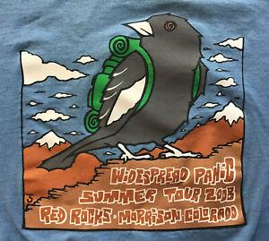 Widespread Panic Summer Tour 2008 Red Rocks Morrison Colorado T-Shirt, Blue, Med