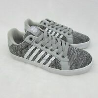 K Swiss Belmont Canvas Gray White Low Top Sneaker Size 5.5 Eur 38 Mens83641