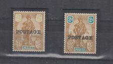 Malta 1922 2d Definitive Pair Missing Turqoise Error Scarce Mint J9850