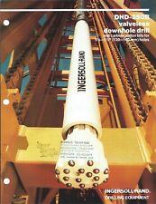 Equipment Brochure - Ingersoll-Rand Dhd-350R Downhole Drill 1985 Mining (E4746)