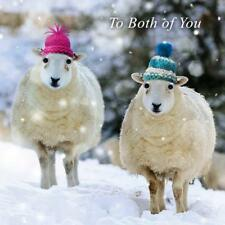 To Both Of You Googlies Christmas Card Tracks Wobbly Eyes Greeting Cards