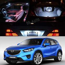 For 2013-2015 SUV Mazda CX5 CX-5 White Interior LED Light Bulb Lamp Package Kit