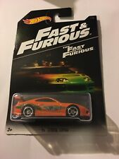 2016 Hot Wheels FAST AND FURIOUS '94 Toyota Supra Orange Card Not Mint