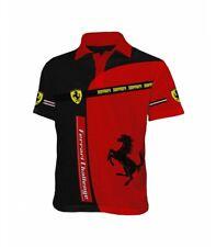 T-Shirt Ferrari Formula1 F1 Team Racing Official Sports 3D Tee Polo Casual Red