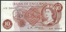 TMM* 1960-61 Bank Note 1o Shillings Great Britain P373a EF/AU