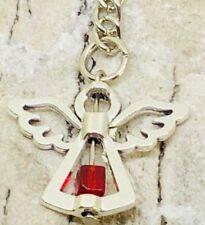 July Ruby Birthstone Guardian Angel Keyring lucky bag charm keepsake gift