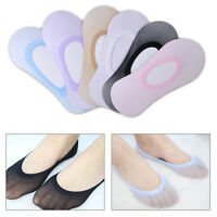 6 Pairs Women Bamboo Fiber Colors Invisible Liner Socks Ankle No Show Peds Boat