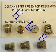 PROPANE GAS OPERATION BURNER ORIFICE NO. 55 313526-201 PK OF 7