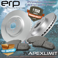 Front 2 Premium Rotors & 4 Ceramic Pads for ( 2002 - 2005 ) Ford Thunderbird