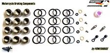 Kawasaki Tokico 6 pot s front brake caliper calipers seal piston s rebuild kit A