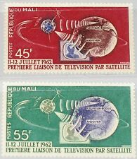 Mali 1962 55-56 40-41 1st TV Connection US-EUROPE Telestar Satellite Space MNH