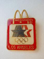Olympic PIN MC DONALD'S Square w/ Stars & Rings & Arches Vtg '84 LA Corp