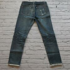 APC Petit Standard Distressed Selvedge Denim Jeans Size 30 31 Faded Destroyed