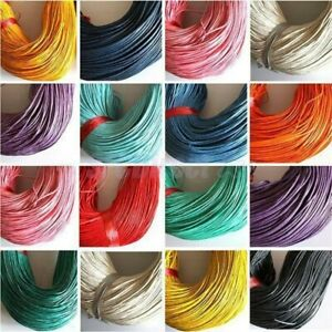 1-10m Waxed Cotton Beading Cord Thread Jewellery Making String 1mm dia