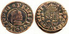 España-Felipe IV. 16 Maravedis. 1661. SEVILLA. MBC+/VF+. Cobre 4,1 g. Bonita