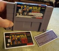 Ninja Gaiden Trilogy Snes Super Nintendo Authentic!Comes with replacement label*