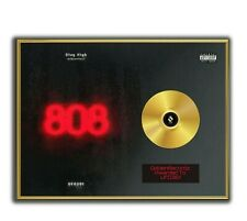 UFO361 Poster, 808 GOLD/PLATINIUM CD, gerahmtes Poster HipHop Rap WallArt