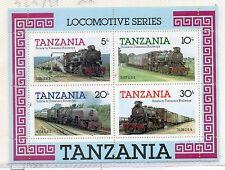 Tanzania Trenes Ferrocarriles Hojita del año 1985 (CR-576)