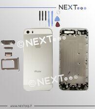 BACK COVER SCOCCA POSTERIORE IPHONE 5S BIANCO COPRIBATTERIA + kit riparazione