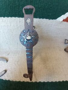 Antique Spade Bit with Silver Inlay Las Cruces cheek. Very old bit