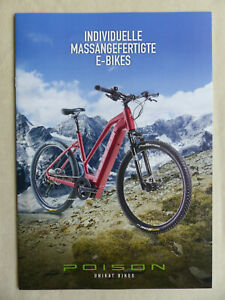 Poison Unique E-Bikes 2018 Lithium Cadmium Dioxin - Prospectus Brochure Pedelecs
