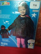 Veste fille avec capuche -5/6 ans -Neuf -