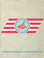 PIEDMONT ANNUAL REPORT 1975 AIRLINES AIRWAYS USA