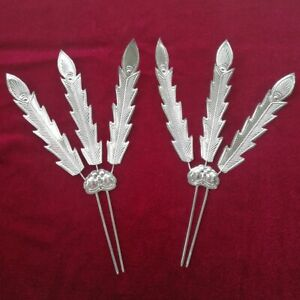 Classic Hair Accessories tribe hand miao silver feather hairpin headdress 1piece