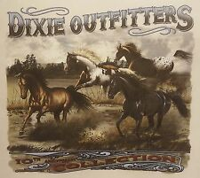 DIXIE OUTFITTERS HORSES RUNNING WILD #6155 POCKET SHIRT