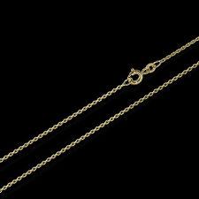 50cm ANKERKETTE Collier 333er gelb GOLD Kette Diamantiert 1,3mm 2,5g 3701