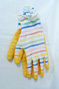 Gardening Gloves Children Kids Size 8+ Yellow 100% Polyester