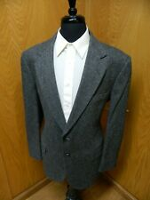 Mens Blazer Sport coat Jacket Towncraft 44r Gray Herringbone Nwot N#153