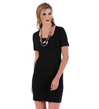 LaMonir Short Dress with Square-neck and Short Sleeves