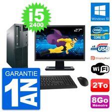 "PC LENOVO M82 SFF Screen 27 "" Intel i5-2400 RAM 8Go Disk Hard 2To Windows 10"