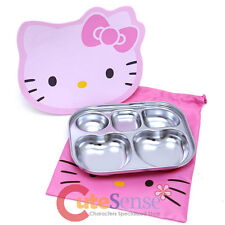 Sanrio Hello Kittiy Lunch Box Stainless Steel Snack Bento Box with Bag