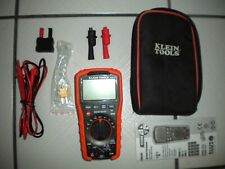 New listing Klein Tools Mm600 Digital Auto-Ranging Multimeter with accessories *Mint*