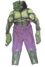 Disney STORE Marvel Incredible Hulk Boy's Child Muscle Deluxe Costume Size 7/8