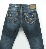 SILVER men's jeans  ALLAN Classic Slim Fit DISTRESSED  size 31 / inseam 29