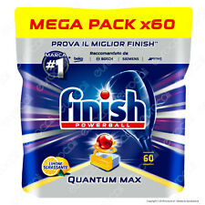 Finish Powerball Quantum Max Limone Sgrassante Tabs Lavastoviglie 60 Pastiglie