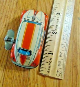 1950s Japanese Tin Wind Up VW  Beetle ,2 3/4 Inches long