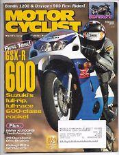 Motorcyclist Magazine February 1997- Honda CBR1100XX, Suzuki GSX-R600