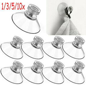 10x 40mm Thumb Screw SuctionCups With Nut Pads Suckers Rubber/plastic Turn NDA